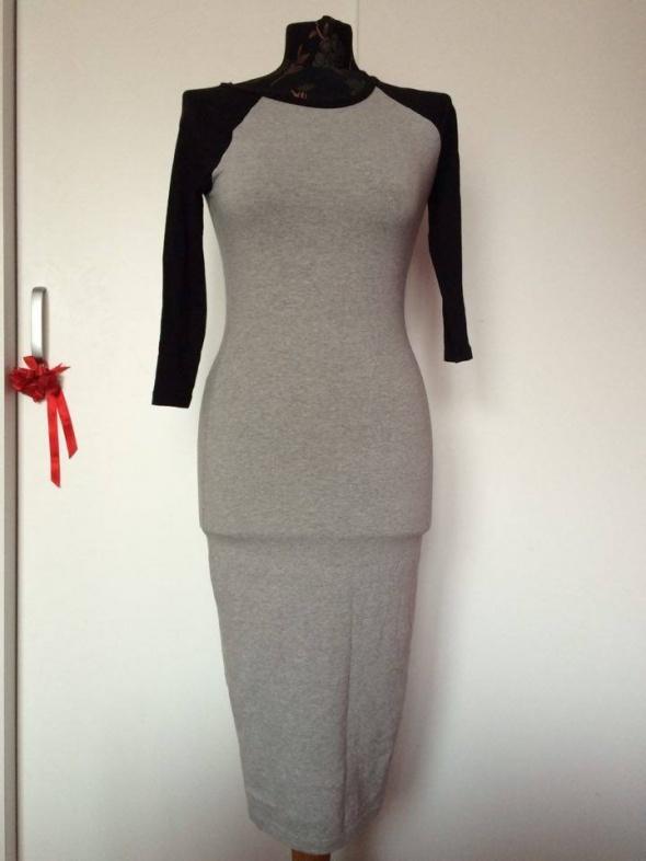 Suknie i sukienki Forever 21 długa maxi dresowa sukienka szara