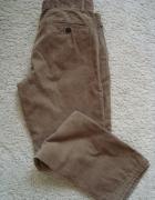 Męskie spodnie sztruksowe brązowe rozm M 175...