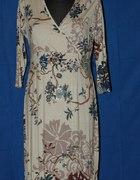 Beżowa sukienka z bawełny M