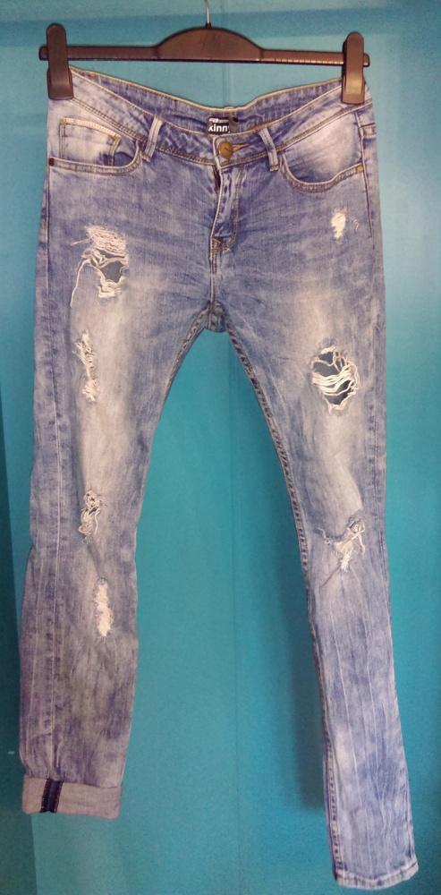 Spodnie z dziurami 36