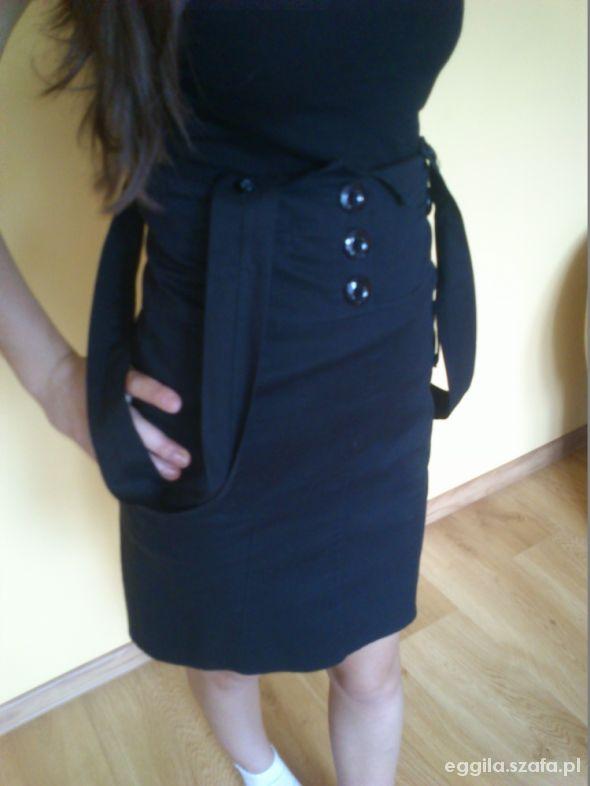 Spódnice Czarna elegancka spódnica z wyższym stanem