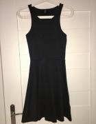 Czarna sukienka basic bez rękawków H&M XS