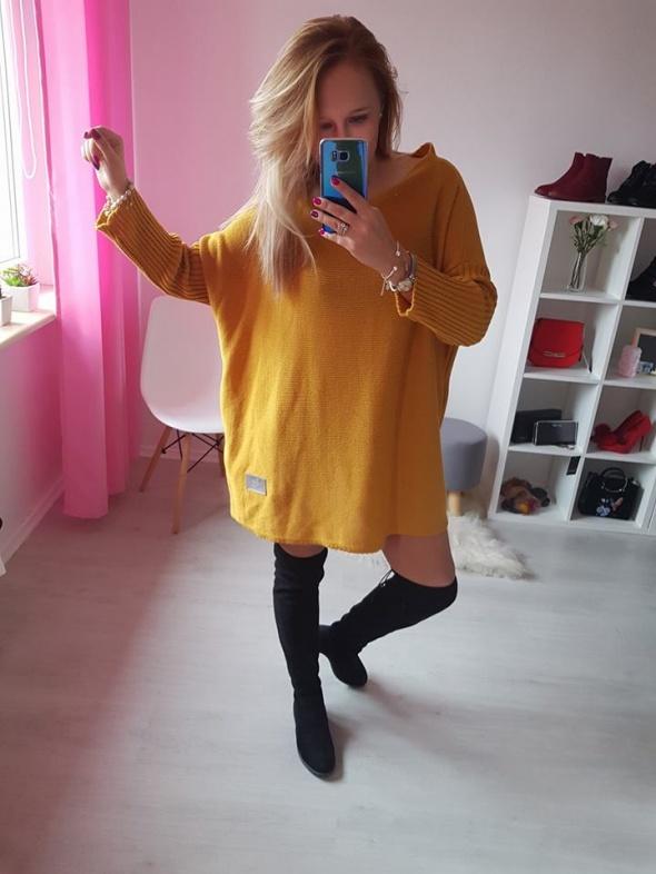 Codzienne Sweter nietoperz oversize moda XL