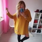 Sweter nietoperz oversize moda XL