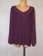 Fioletowa bluzka z przezroczystymi rękawami 50