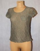 Ażurowa bluzeczka w kolorze khaki 34 6 XS H&M
