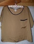 Bluzka top oversize czarne lamówki