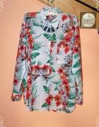 koszula L kwiaty maki wiosenna floral print...