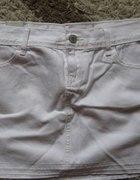 Oryginalna spódnica biała prosta bawełniana...