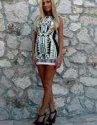 sukienka river island aztec