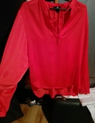 czerwona koszula z wiązaniem H&M