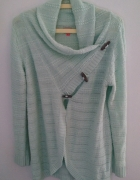 Miętowy sweter Only XL