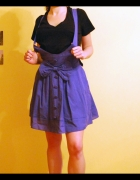 Spódnica rozkloszowana niebieska lolita kokarda XS S M...