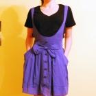 Spódnica rozkloszowana niebieska lolita kokarda XS S M