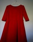 Sukienka czerwona piękna rozkloszowana M L atmosph