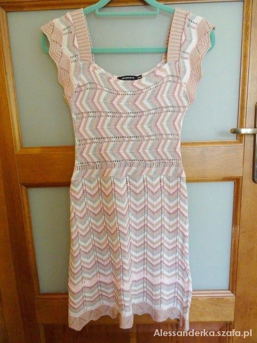 Suknie i sukienki ażurowa sukienka przepiękna
