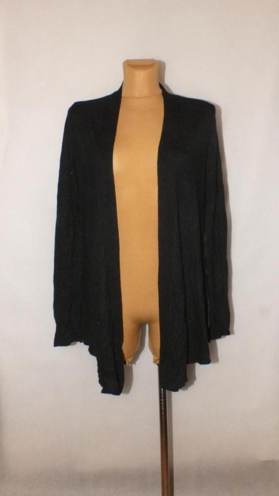 Swetry Modny czarny ciepły kardigan Papaya Rozmiar 52