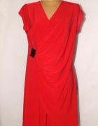 Czerwona elegancka sukienka Rozmiar 48
