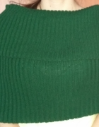 Nowy ciemno zielony komin na ramiona wełniany H&M