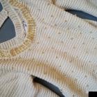 sweter perełki złote