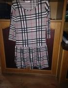 Sukienka szara w krate