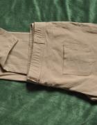 Spodnie rurki elastyczne 42 44 XL beżowe