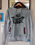 Bluza L XL sportowa szara z kapturem kieszenie