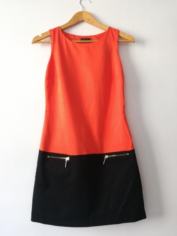 Pomarańczowa sukienka MOHITO...