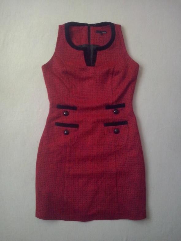Suknie i sukienki NEXT ELEGANCKA CZERWONA PRINCESKA 36 S