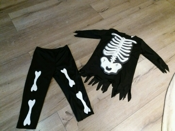 Komplety strój kostium szkieleta