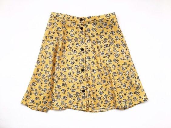 Spódnice Krótka spódniczka na lato H&M kwiatki