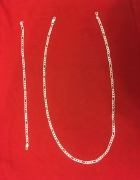 Naszyjnik bransoletka prezent 925 platerowane srebro komplet figaro