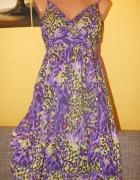 Fioletowa sukienka George 40 12 L