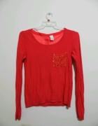 VILA malinowy sweterek XS S