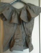 Czarna extrawagancka bluzeczka oversize s m l