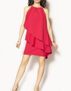 Sukienka czerwona wieczorowa falbany falbanki...