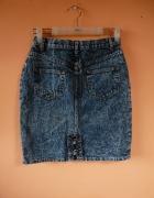 Jeansowa marmurkowa spódnica S M...
