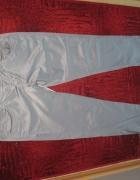 Satynowe spodnie szare