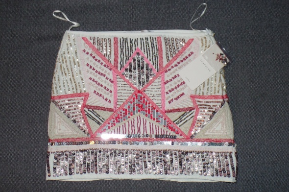 Spódnice Piękna spódniczna Zara z cekinami i kamyczkami