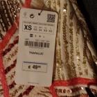 Piękna spódniczna Zara z cekinami i kamyczkami