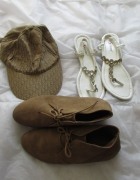Czapka z daszkiem buty zamszowe sandałki...