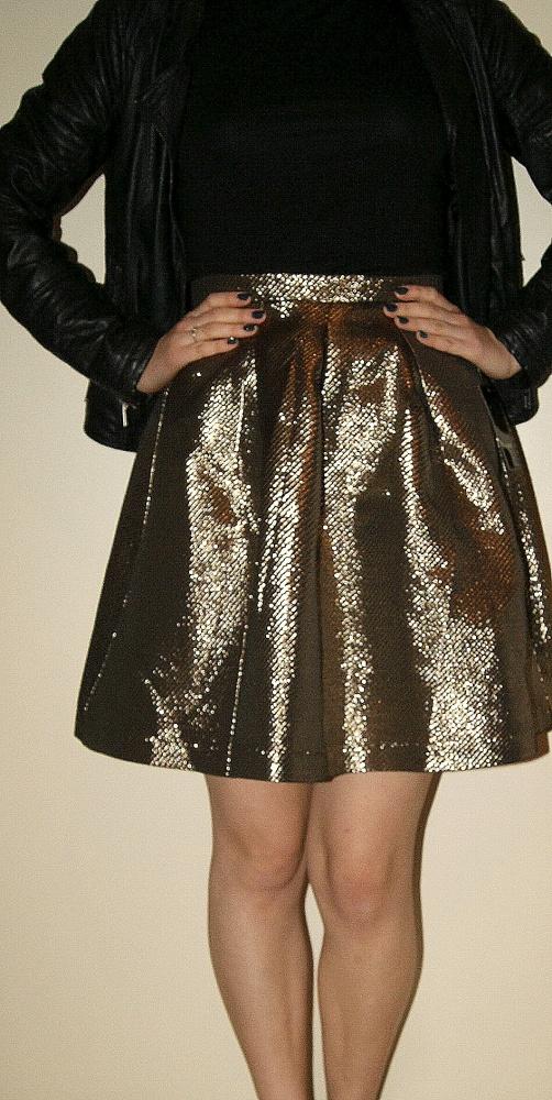 Spódnice Nowa złota spódnica