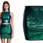 H&M spódniczka dopasowana mini cekiny XS