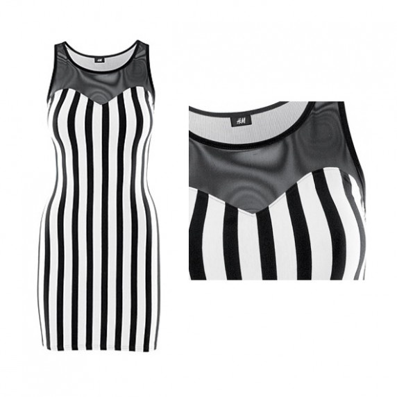 H&M suienka w czarno białe paski