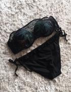 Czarny strój kąpielowy Reserved siateczka 75C...