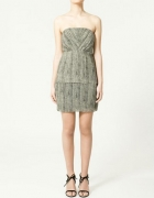 ZARA sukienka XS 34 skóra węża nowa szyfon...