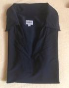 Calvin Klein czarna koszulka z miękkim kołnierzykiem 36 S