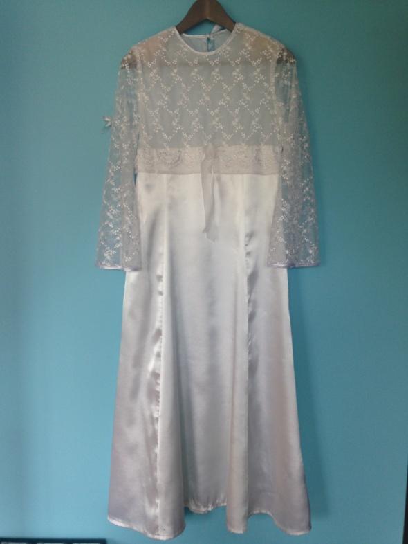 sukienka komunijna dla wysokiego dziecka...