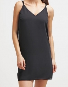 Czarna sukienka Topshop krzyżowane ramiączka M L