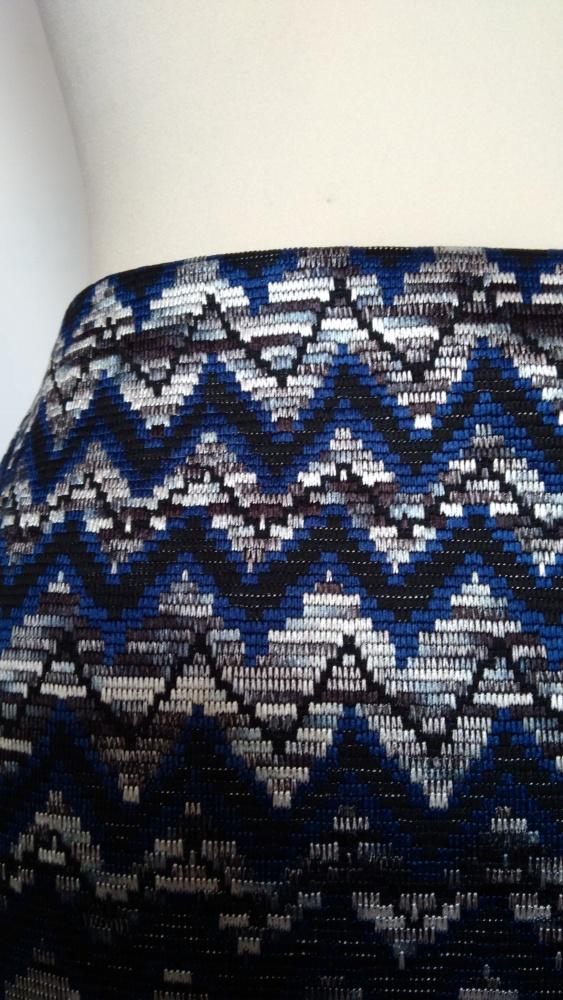Krótka mini srebrna dzianinowa spódniczka New Look w